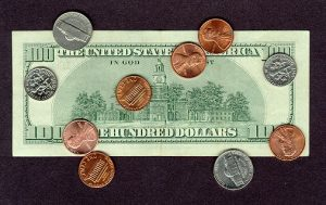 An image of the 100 US Dollar Note's back side.